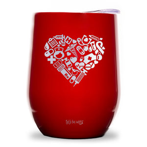 Nurse Love Wine Tumbler