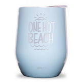 One Hot Beach Wine Tumbler