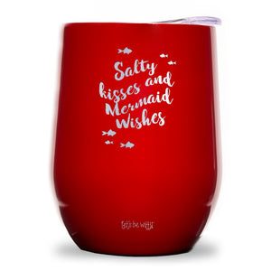 Salty Kisses and Mermaid Wishes Wine Tumbler