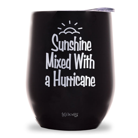 Sunshine Mixed With a Hurricane Wine Tumbler
