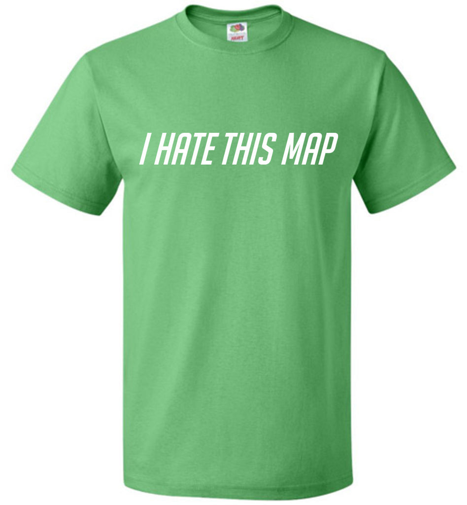 I Hate This Map Funny Gamer T-Shirt Retro Gift Unisex Youth Tee