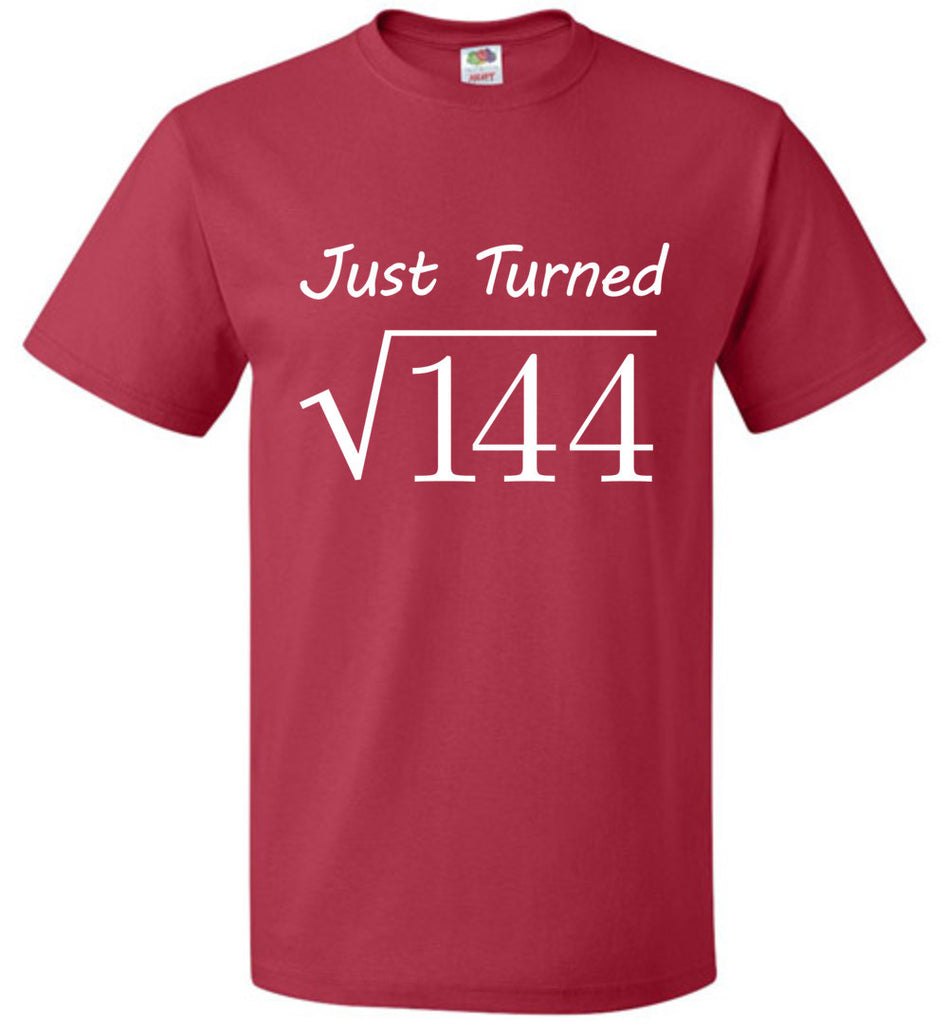 Square Root of 144 Birthday T-Shirt for 12 Year Old Boys and Girls