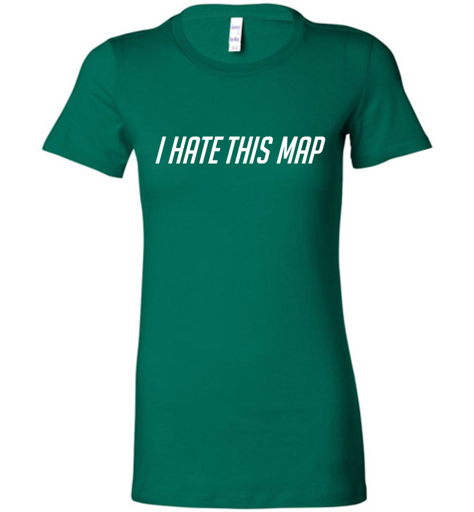 I Hate This Map Funny Gamer T-Shirt Video Game tshirt Retro Gift Women's tee