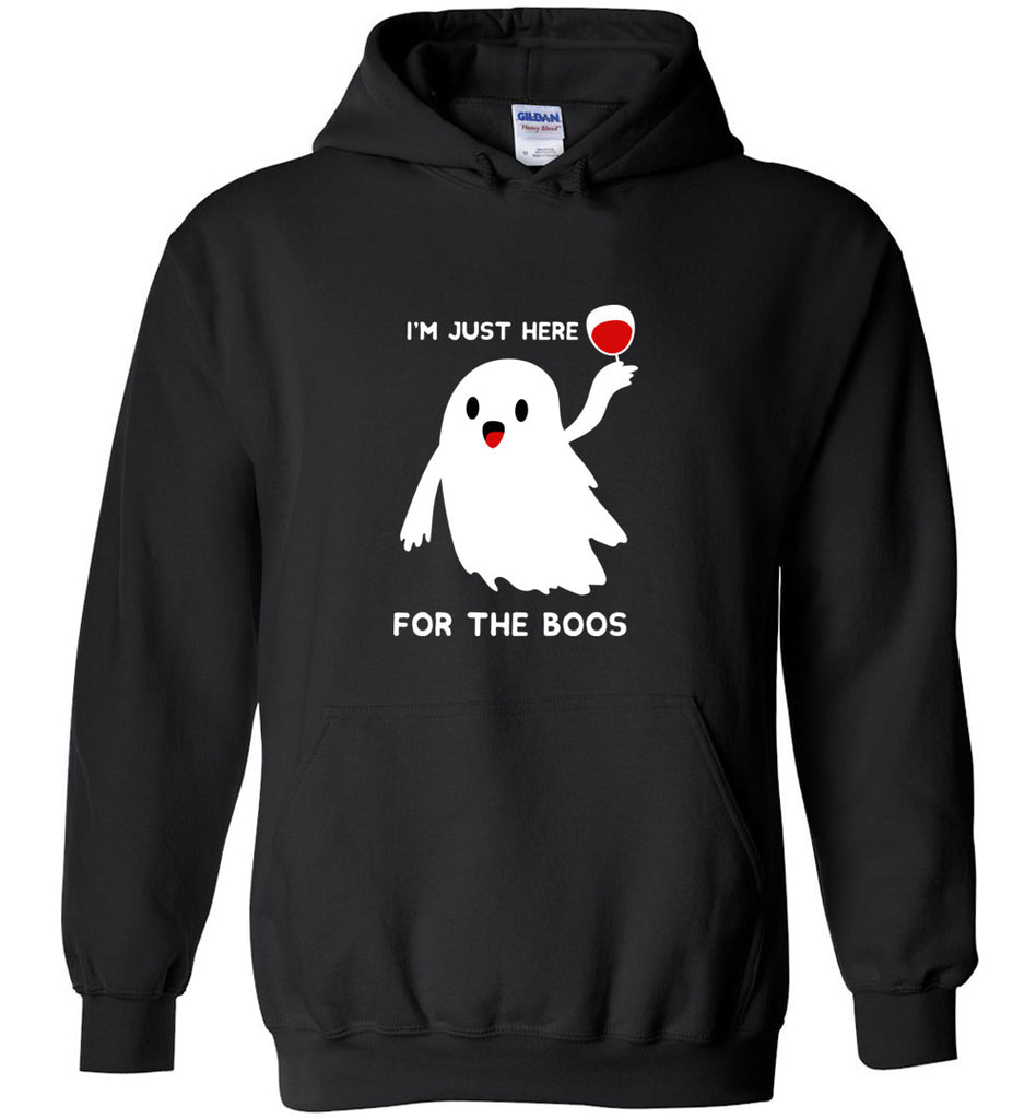 Funny Halloween Shirts I'm Just Here for The Boos Hoodie Men Women