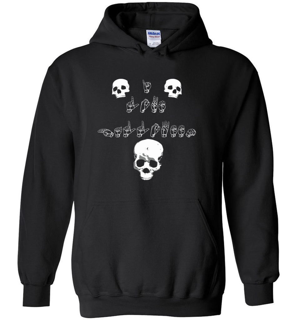 I Love Halloween Sign Language Shirt ASL Hoodie Men Women