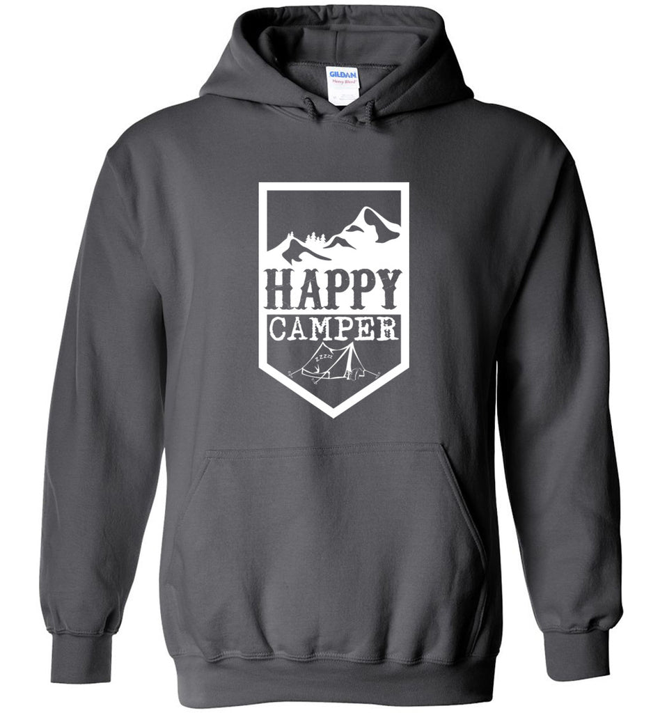 Happy Camper Outdoorsy Camping Shirt Sweatshirt Hoodie