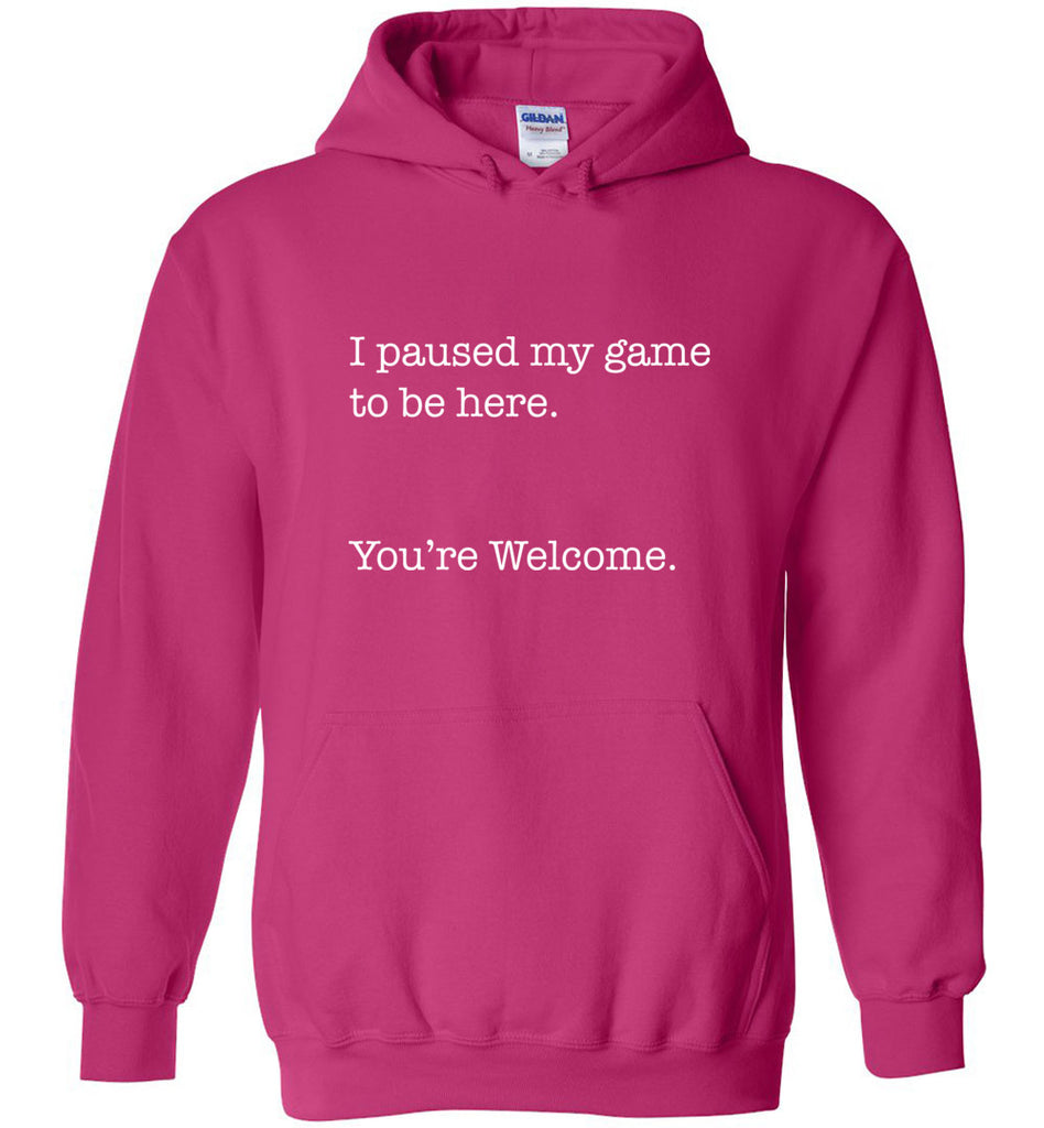 I Paused My Game To Be Here. You're Welcome. Geek Sweatshirt Hoodie