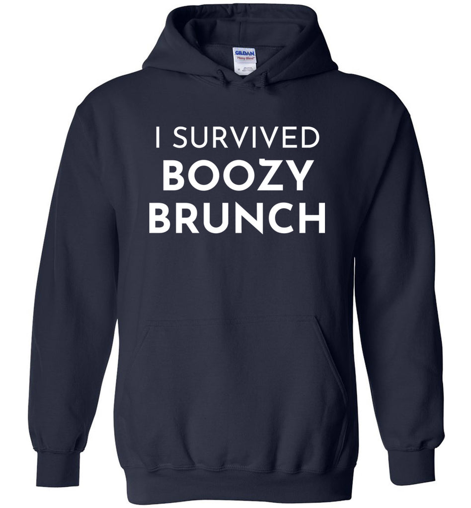I Survived Boozy Brunch Shirt, A Brunch Squad Shirt for Ladies in Hoodie