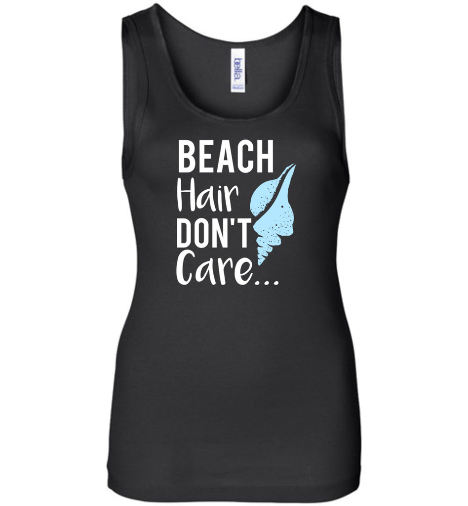 Funny Shirt Beach Hair Don't Care Beach and Pool Tank Top For Women
