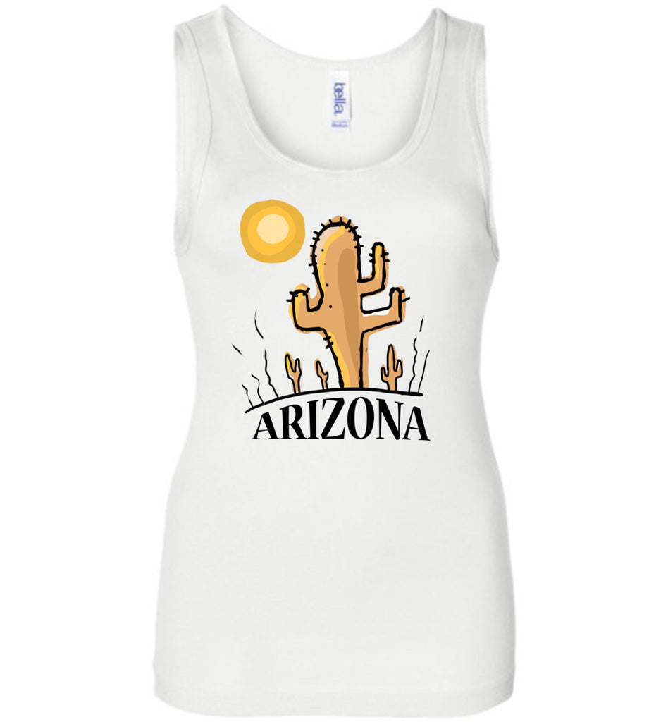 Vintage Arizona Souvenir Cactus Shirt Tank Top for Women