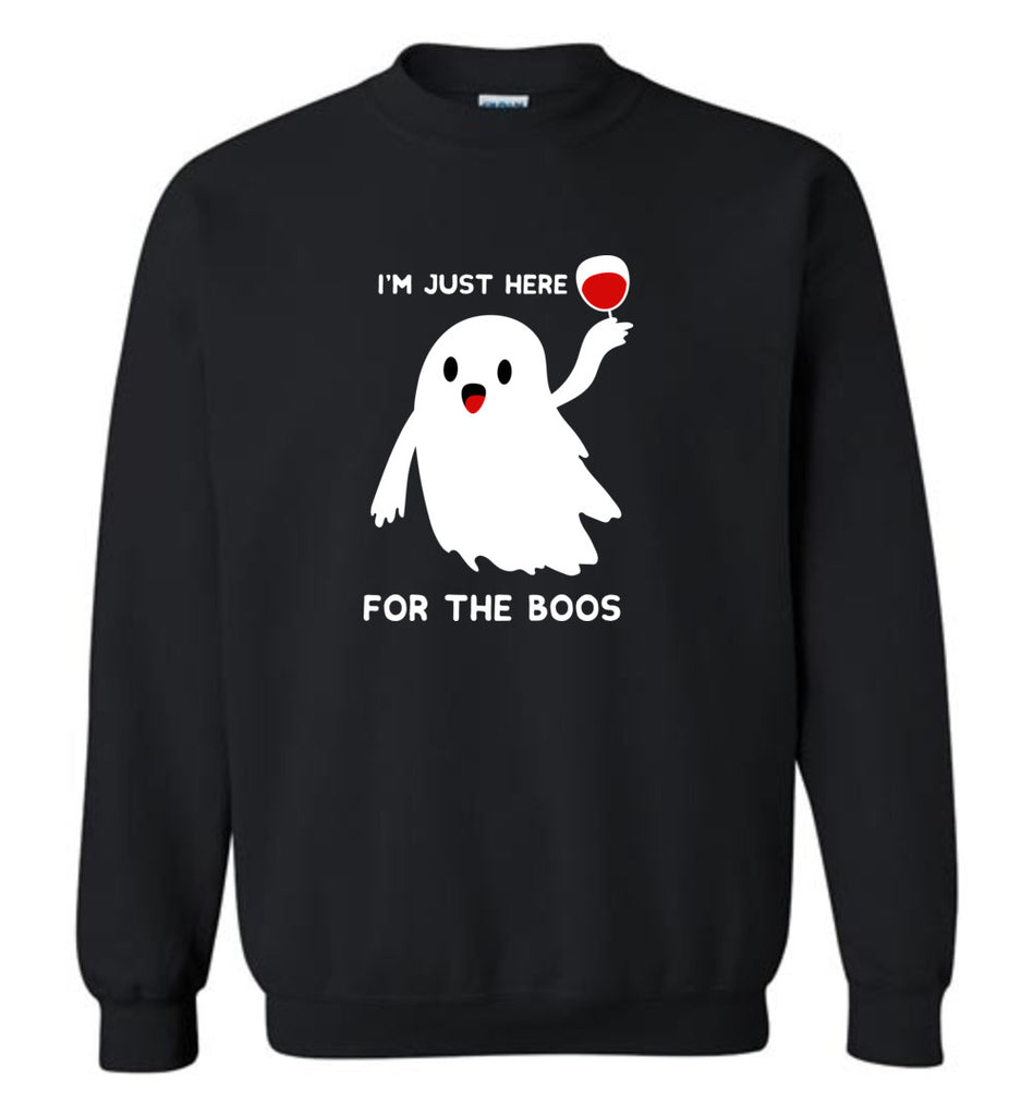Funny Halloween Shirts I'm Just Here for The Boos Unisex Sweatshirt Men Women