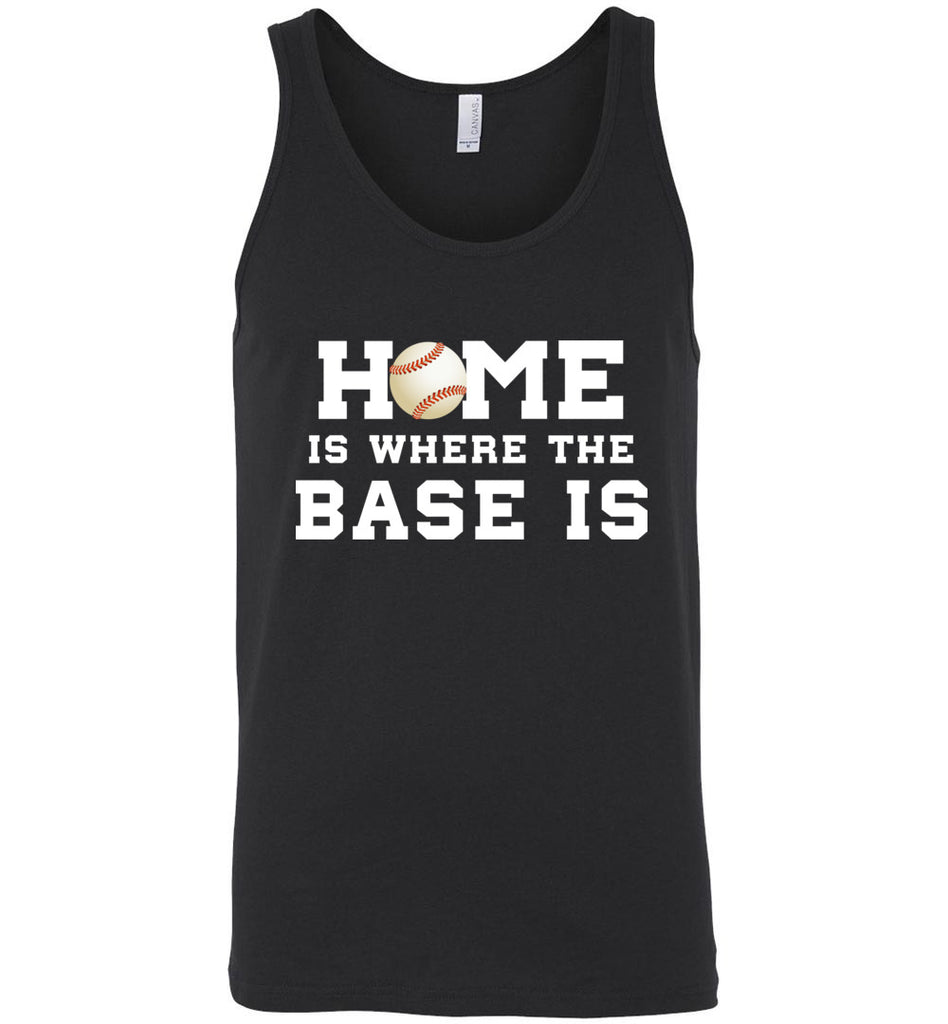 Funny Baseball Shirt Home Is Where The Base Is Sports Tank Top
