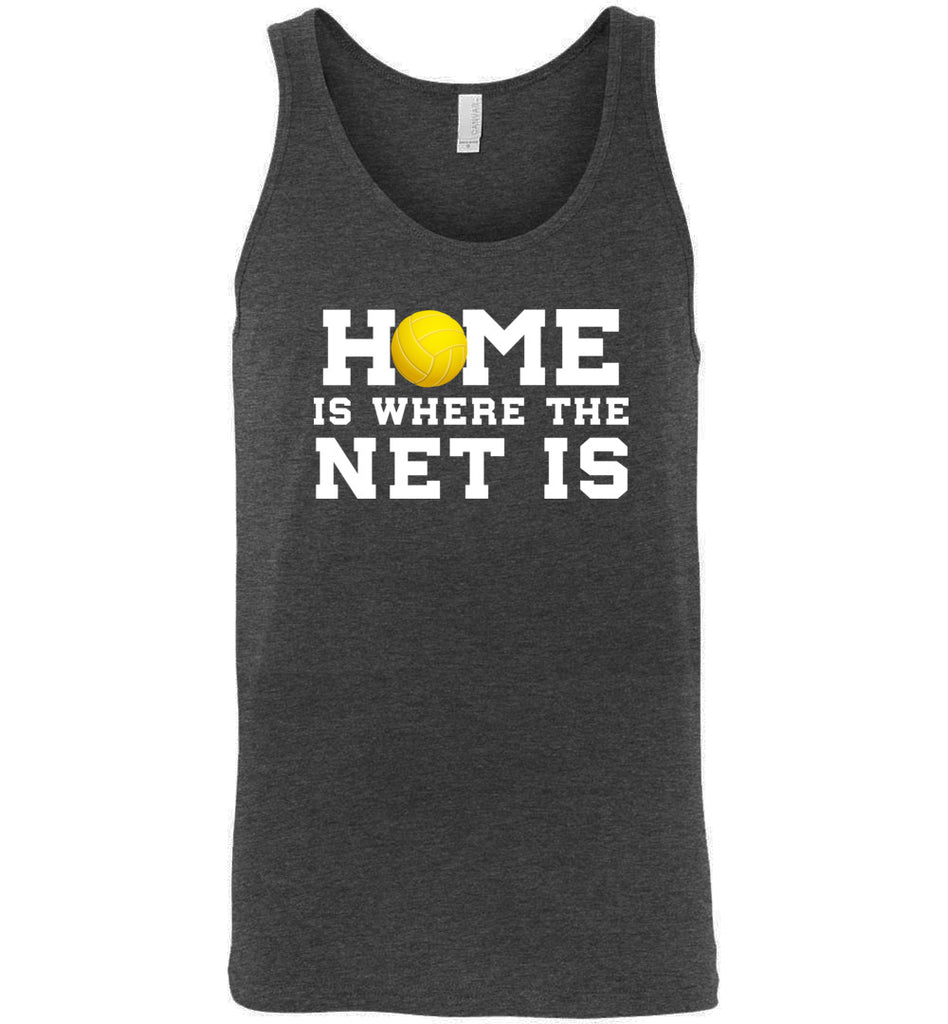 Funny Volleyball Shirt Home Is Where The Net Is Sports Tank Top
