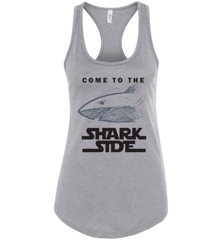 Funny Shirt Come To The Shark Side Racerback Tank Top For Women