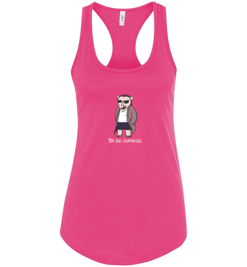 The Pig Lebowski Movie Parody Shirt For Cinema Fans Racerback Tank Top