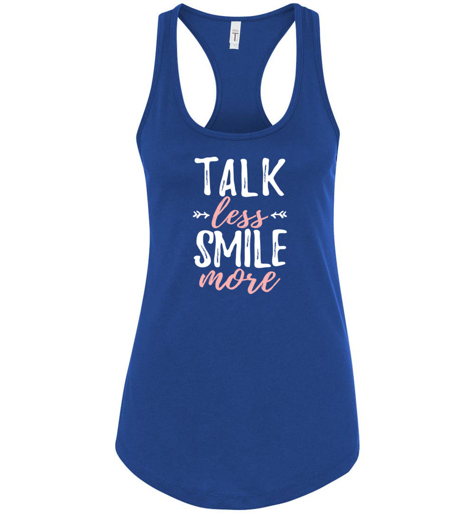 Hamilton Shirt Talk Less Smile More Funny Hamilton Racerback Tank Top For Women