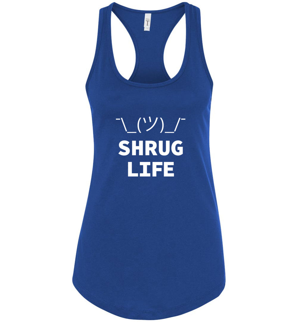 Shrug Life Geek It Worked On My Machine Shruggie Icon Racerback Tank Top