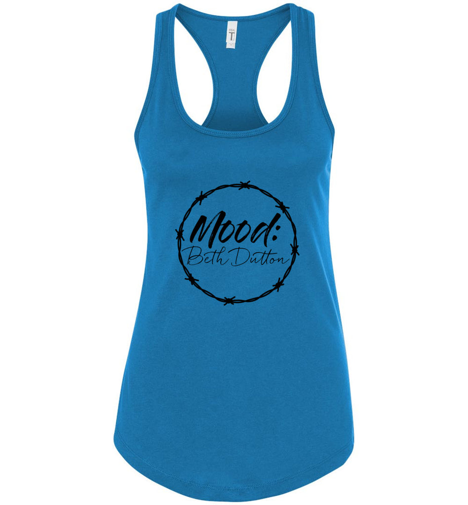Mood Beth Dutton Racerback Tank Top - Turquoise