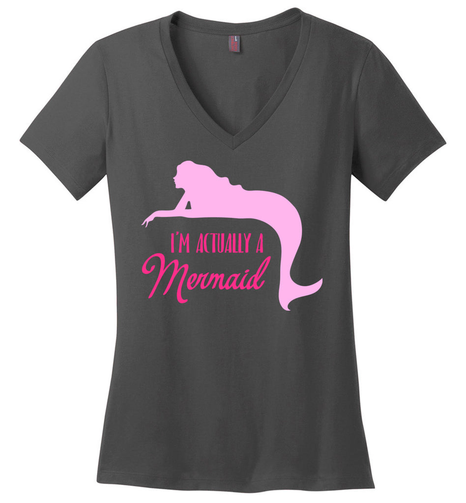 I'm Actually Mermaid V-Neck T-Shirt