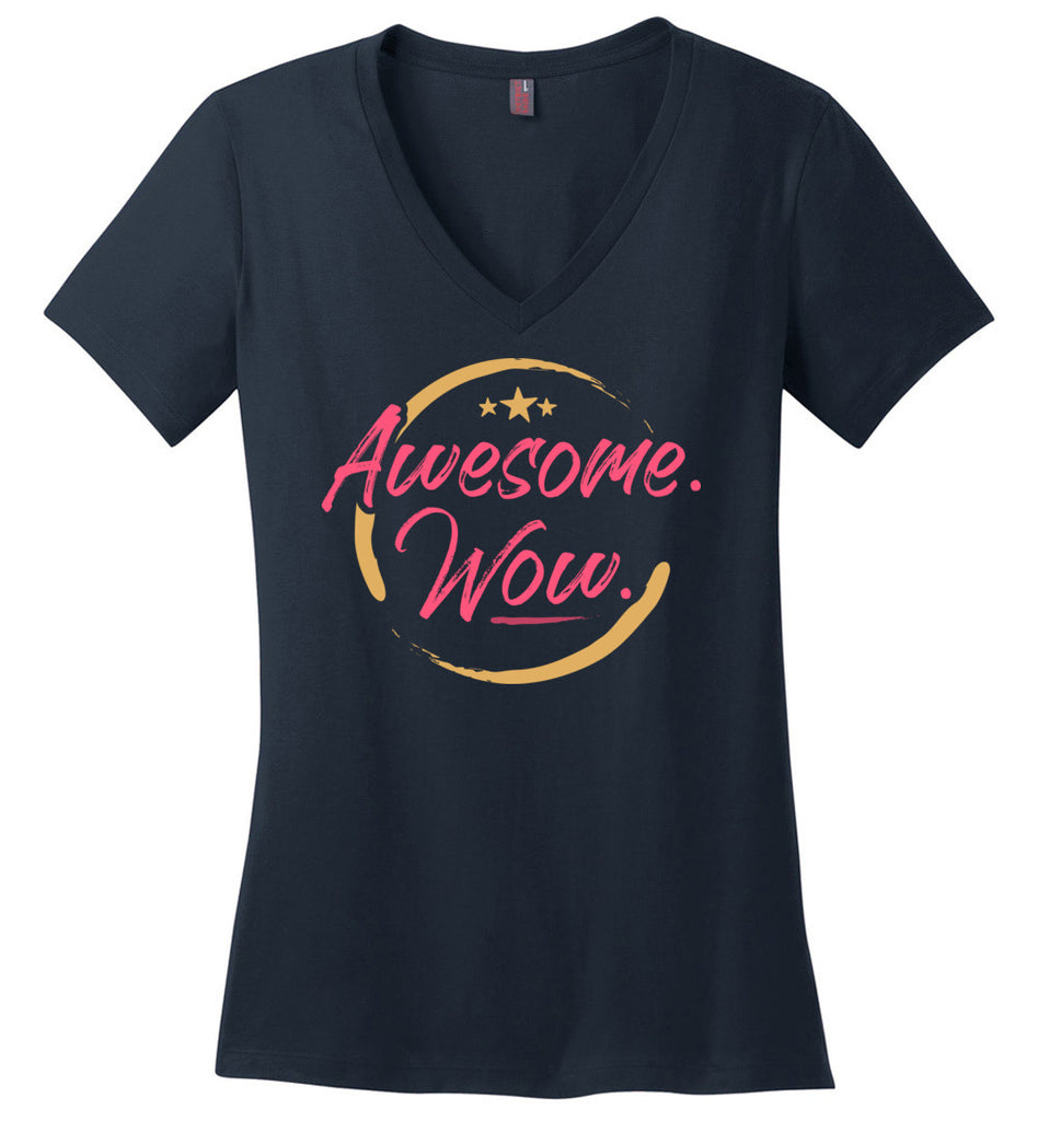 Awesome WOW Hamilton Quote Women's V-Neck T-Shirt