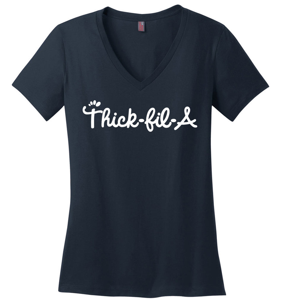 Thick-Fil-A Women's V-Neck T-Shirt