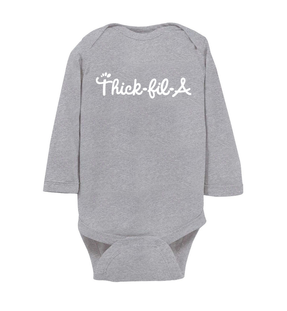 Thick-Fil-A Baby Long Sleeve Bodysuit