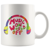 Music On World Off Mug Colorful Headphones Design For Musicians And Audiophiles