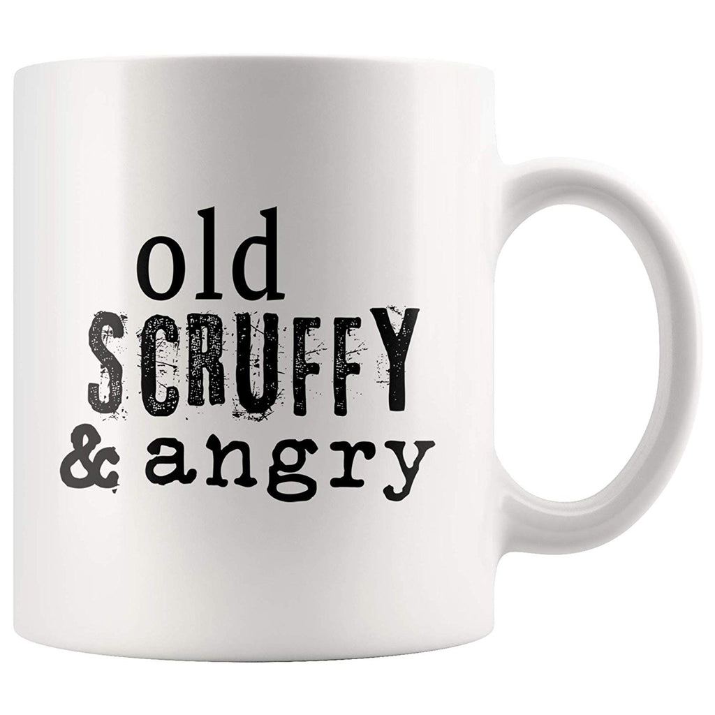 Hamilton Mug Young Scrappy and Hungry Joke Old Scruffy and Angry Mug