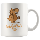 Papasaurus Rex Mug Computer Nerd Programmer Software Engineer Dad Dinosaur