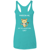 Excuse Me, Are You Aaron Purr, Sir Hamilton Triblend Racerback Tank Top