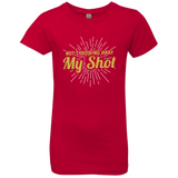 Not Throwing Away My Shot Hamilton Girls' Princess T-Shirt