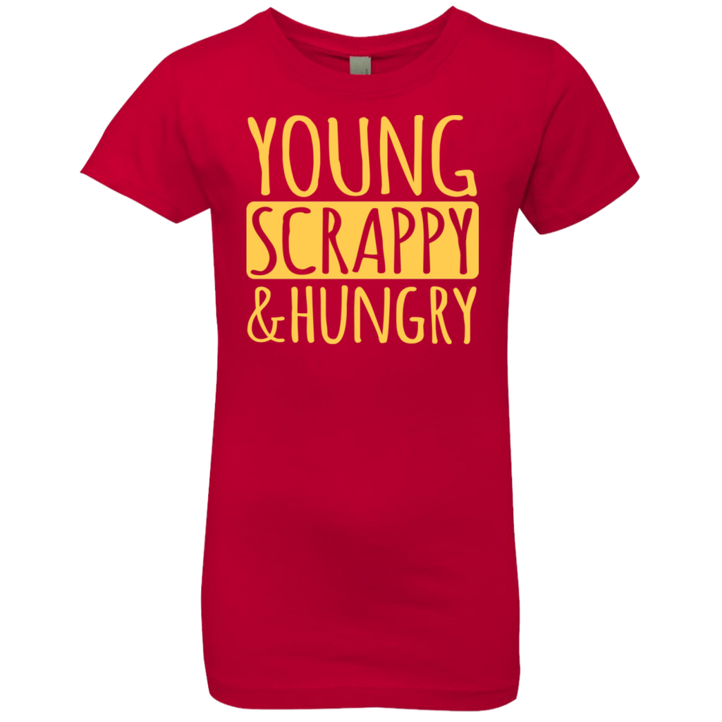 Young Scrappy & Hungry Hamilton Girls' Princess T-Shirt