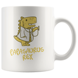 Papasaurus Rex Mug With Dad Doctor Dinosaur Wearing Stethoscope