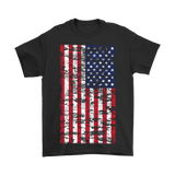 4th Of July T-Shirt Vintage Distressed American Flag