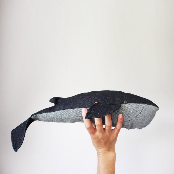 Make a Whale out of Old Jeans - Free Pattern