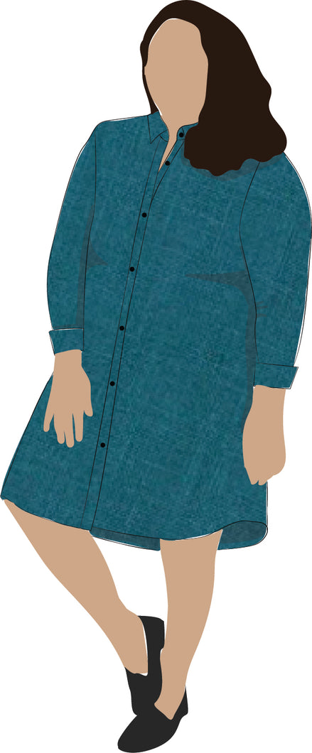 Shirt Dress - knee length, collared