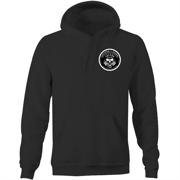 Killers and Kings tattoo balm front and rear logo - AS Colour - Pocket Hoodie