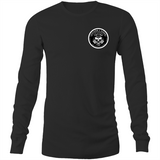 Killers and Kings tattoo balm front and rear logo - Sportage Hawkins - Long Sleeve T-Shirt