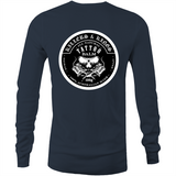 Killers and Kings tattoo balm front and rear logo - AS Colour Base - Mens Long Sleeve T-Shirt