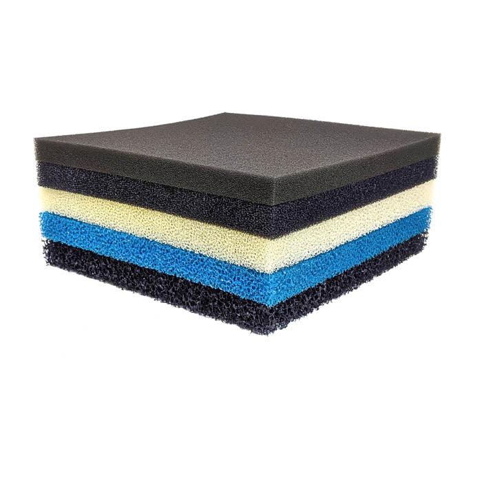 Variety 5 Pack - Sponge Filter Pads 12x12x1