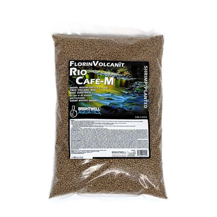 5 LB Bags - Brightwell Shrimp/Plant Soil - Brown (Rio Cafe)