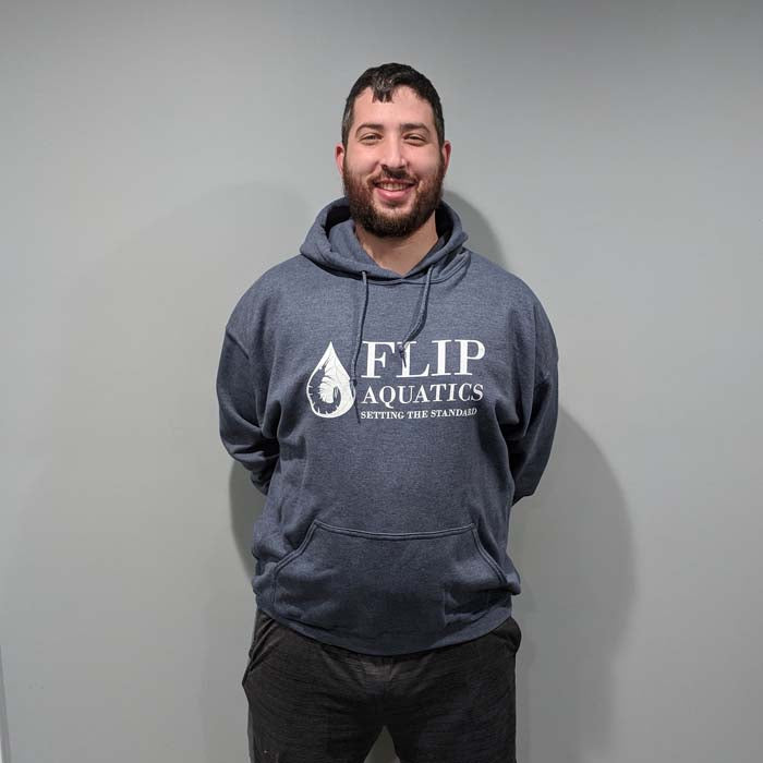 "Light Grey Flip Aquatics ""Setting the Standard"" Hoodie"