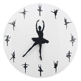 Ballerina Dancer Wall Clock
