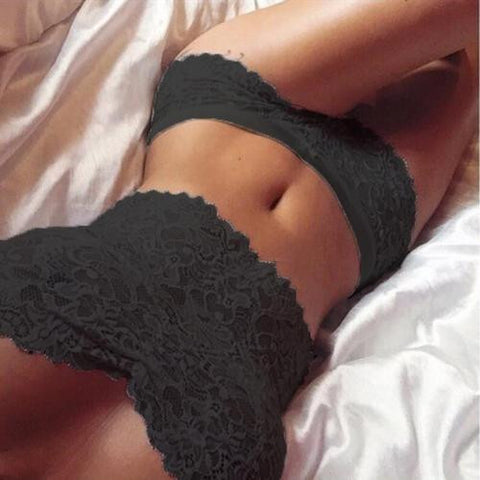 Lovely Lace Lingerie Top and Boy Short Panty Set
