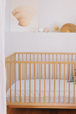 fitted cot sheet · mini stripe