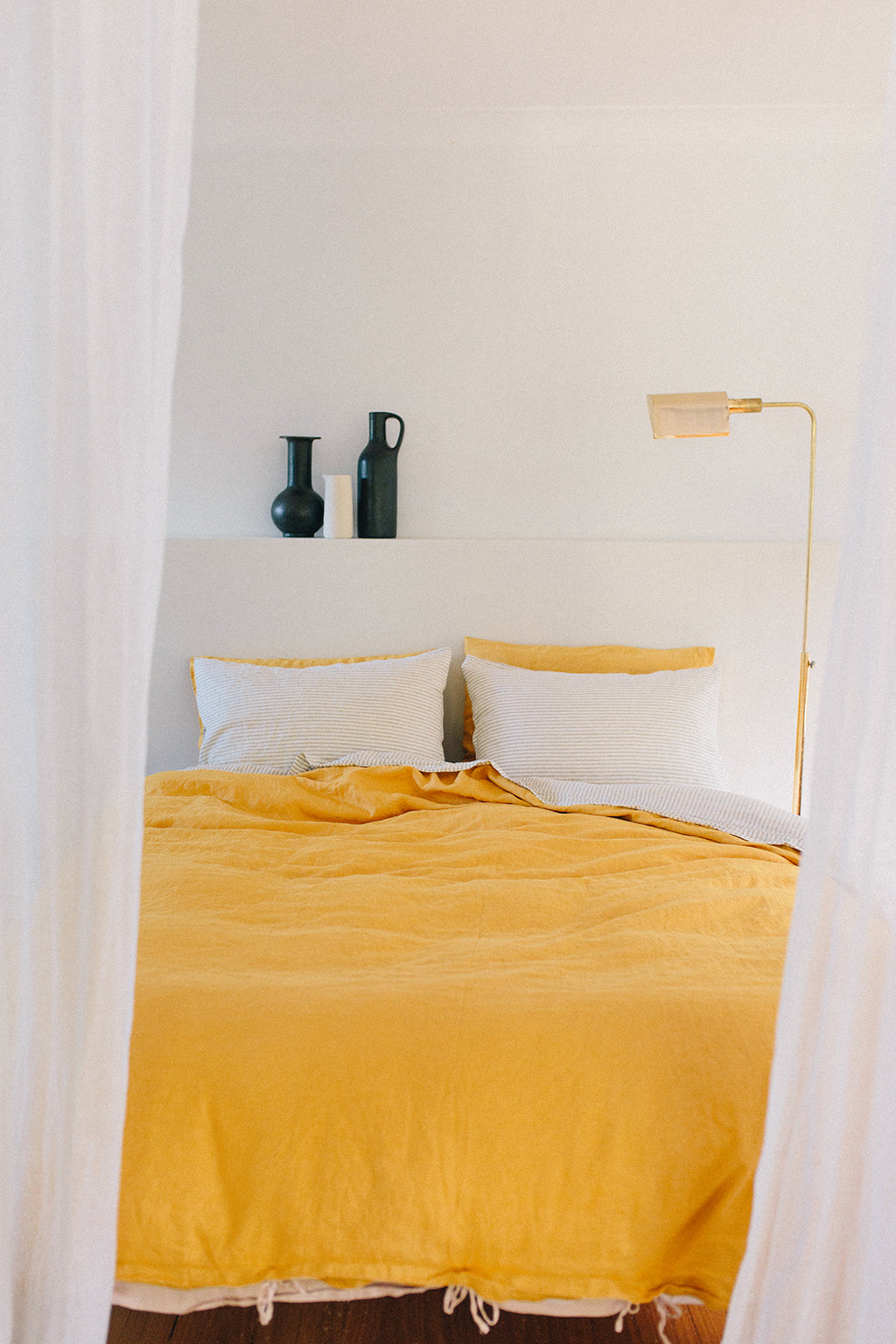 duvet set · marigold & shell · queen|king