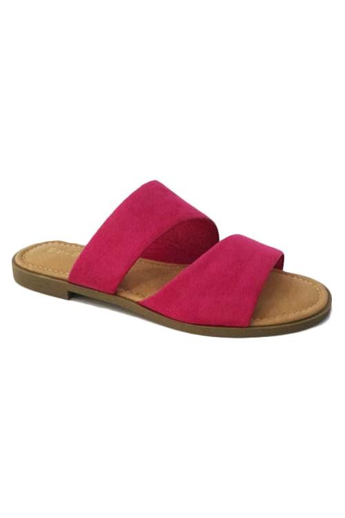 The Zara Sandal- Fuchsia