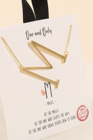 Initial Letter Charm Necklace- Large