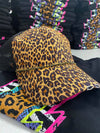 Cheetah Bling Ball Cap