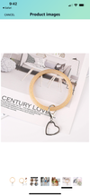 Silicone Bangle Key Ring- Gold Glitter